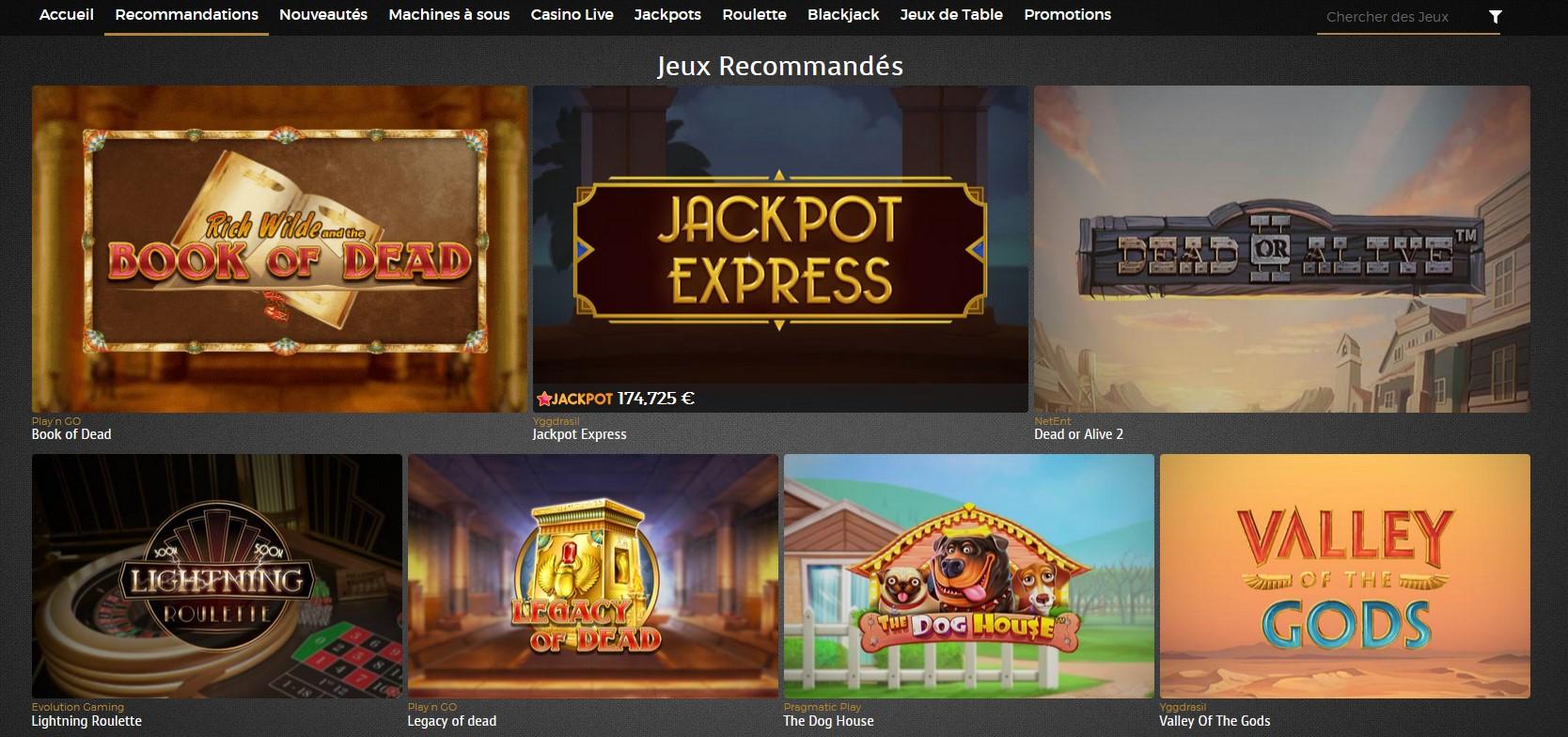 Jeux du Casino Extra