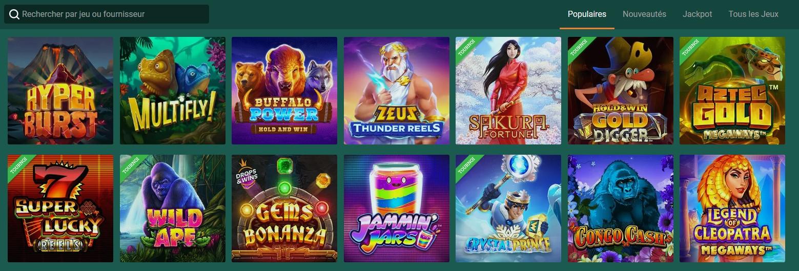 Meilleurs jeux du casino Cresus