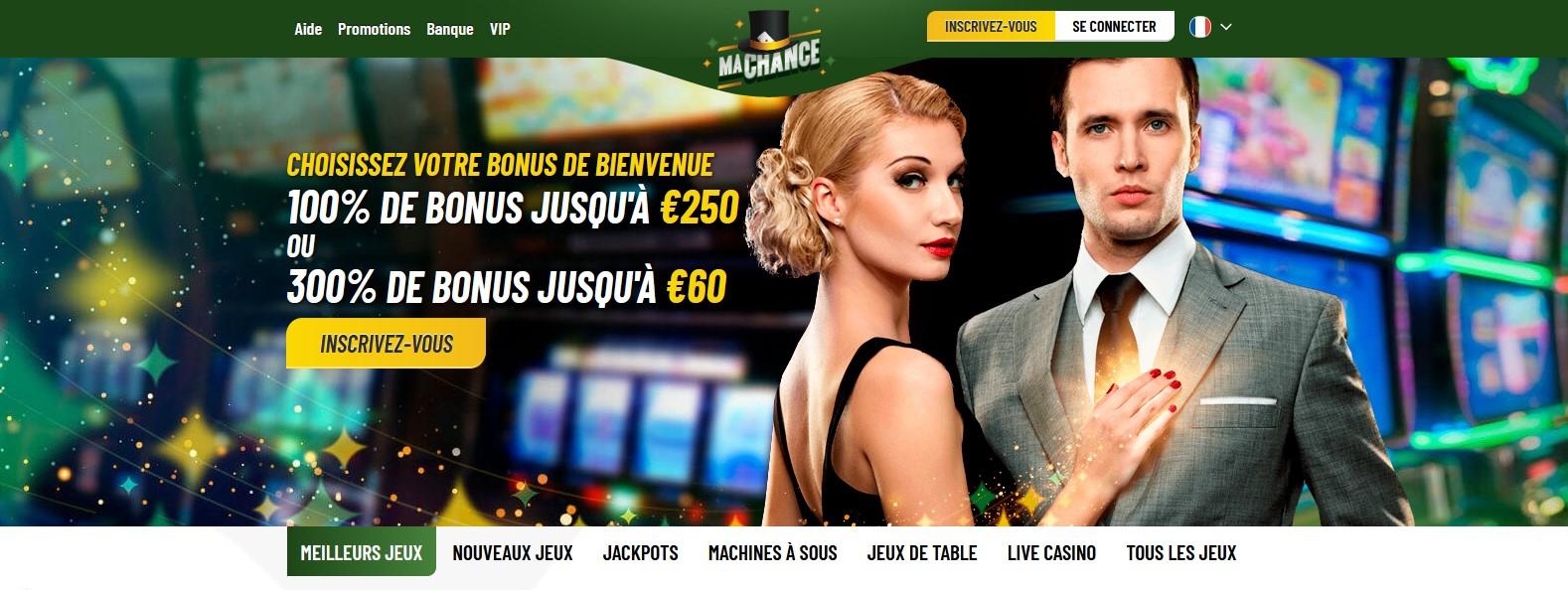 Bannière du casino MaChance