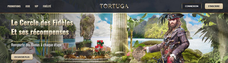 Bannière du casino en ligne Tortuga